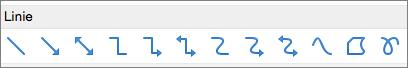 Linie w programie PowerPoint dla komputerów Mac