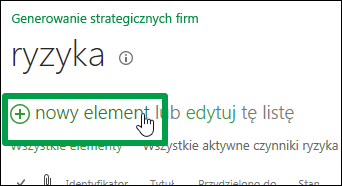 Nowy element