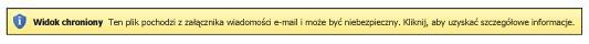 Widok chroniony dla załączników wiadomości e-mail