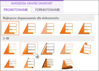 Stosowanie stylu grafiki SmartArt