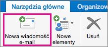 Przycisk Nowa wiadomość e-mail