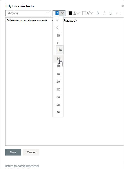 Edytowanie tekstu sformatowanego