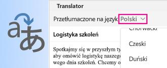 Translator dla programu Outlook dla komputerów Mac