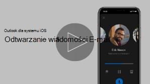 Miniatura wideo telefonu iPhone do odtwarzania wiadomości wideo