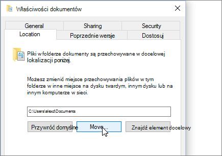 Zrzut ekranu przedstawiający menu właściwości dokumenty w Eksploratorze plików.