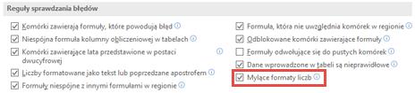 Przejdź do pliku > opcje > formuł > reguły sprawdzania błędów do przełączania się między opcja formaty liczb Misleading.