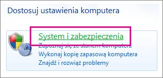 Panel sterowania systemu Windows 7