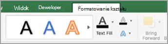 Karta Formatowanie kształtu
