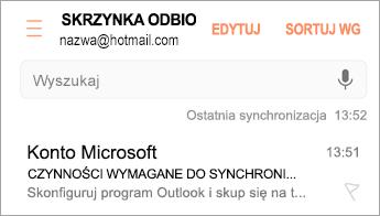 """Otwieranie wiadomości e-mail z informacją """"Wymagane działanie"""""""