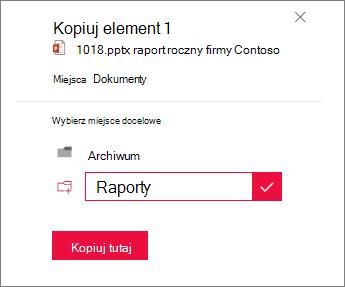 Wpisz nazwę nowego folderu.