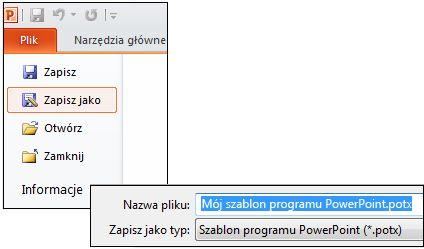 Zapisywanie prezentacji jako pliku potx