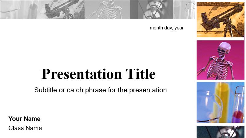 Zrzut ekranu przedstawiający okładkę szablonu raportu schience