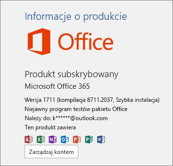 Kompilacja niejawnego programu testów pakietu Office