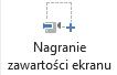 Przycisk nagrywania ekranu, na karcie nagrywanie w programie PowerPoint 2016