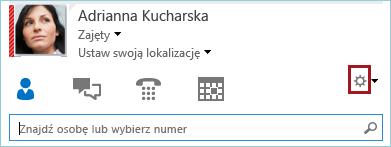Zrzut ekranu: kółko Opcje