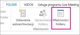 Właściwości folderu wstążki