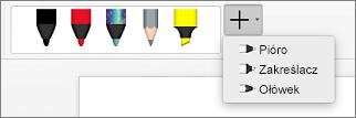 Korzystanie z pióra w programie Word dla komputerów Mac:
