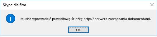 Komunikat o błędzie wyświetlany podczas próby otwarcia pliku z lokalizacji innej niż usługa OneDrive dla Firm