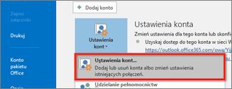 Ustawienia konta systemu Windows