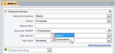 Wprowadzanie wyrażenia za pomocą funkcji IntelliSense
