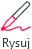 Przycisk Rysuj umożliwia przełączanie między trybem pisma odręcznego i normalnym trybem zaznaczania.