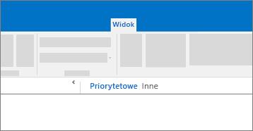 Koncepcyjny zrzut ekranu funkcji priorytetowa Skrzynka odbiorcza