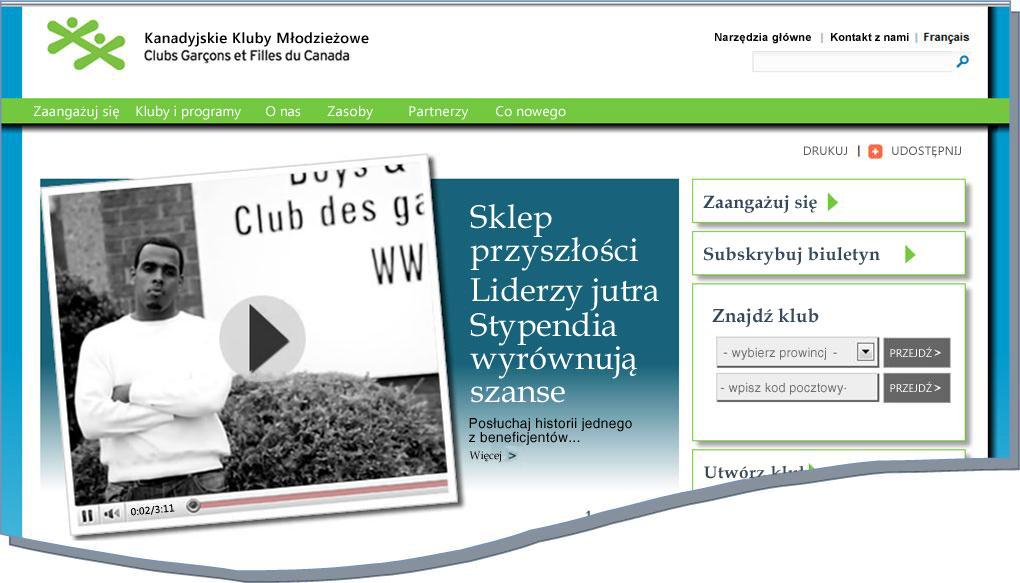 Migawka witryny sieci Web BGCC