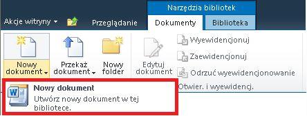 Dodawanie nowego dokumentu do biblioteki dokumentów