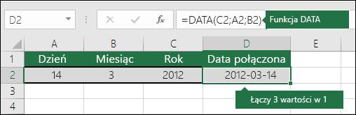 DATA, funkcja — przykład 2