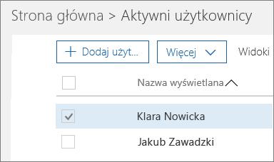 Wybieranie użytkownika, którego chcesz zablokować