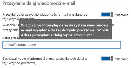 Dodaj adres e-mail bieżącego pracownika.