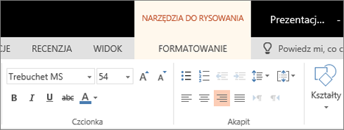 Formatowanie tekstu