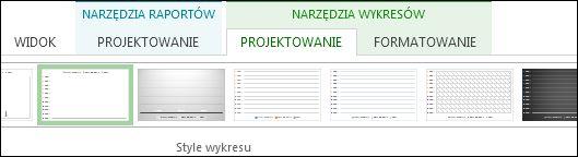 Grupa Style wykresu na karcie Narzędzia wykresów > Projektowanie