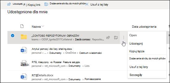 Dodawanie folderu do usługi OneDrive
