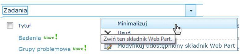 Minimalizowanie