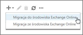 Wybieranie migracji do usługi Exchange Online