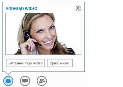 Zrzut ekranu: opcje wyświetlane po umieszczeniu wskaźnika myszy na przycisku wideo