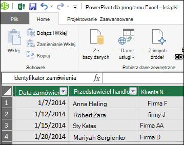 Program Power view tabeli przestawnej