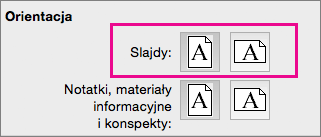Program PowerPoint dla komputerów Mac — orientacja strony