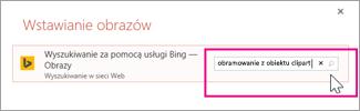 Wyszukaj obramowanie z obiektu clipart w usłudze Bing