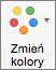 Wybieranie pozycji Zmień kolory na karcie Projekt wykresu