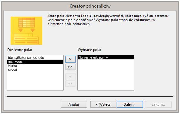 Wycinek ekranu przedstawiający Kreatora odnośników