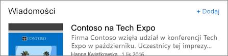 Zrzut ekranu przedstawiający link Dodaj