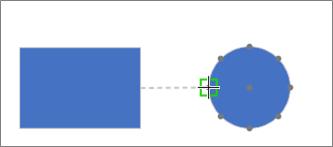 Przeciąganie łącznika do kształtu docelowego