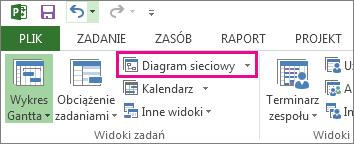 Kliknij pozycję Diagram sieciowy, aby otworzyć widok Diagram sieciowy.