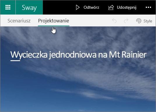 Karta Projektowanie aplikacji Sway.