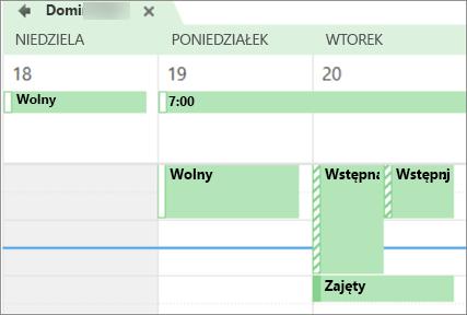 Zawartość kalendarza wygląda od osoby, której udostępniasz.