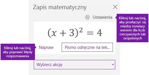 Równania w okienku zadań matematyczne