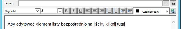 Definiowanie ekranu wiadomości e-mail po wstawieniu zmiennej