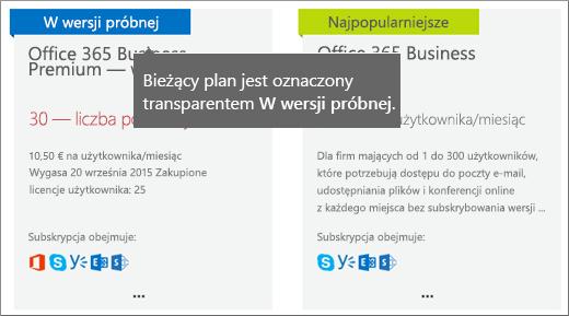 Transparent Wersja próbna dla subskrypcji wersji próbnej.